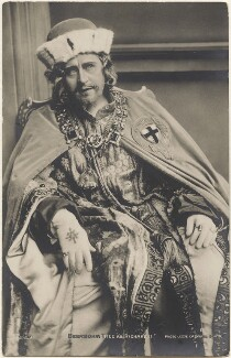 Sir Herbert Beerbohm Tree as Richard II, by Lizzie Caswall Smith, published by  E. Wrench - NPG x200545