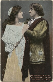 Margaret Halstan and Ernest George Harcourt Williams in 'Romeo and Juliet', by Lizzie Caswall Smith, published by  Millar & Lang Ltd - NPG x200551