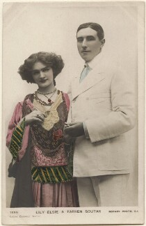 Lily Elsie and (Joseph) Farren Soutar in 'A Chinese Honeymoon', by Lizzie Caswall Smith, published by  Rotary Photographic Co Ltd - NPG x200555