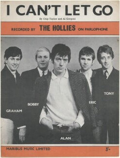 Sheet music cover for 'I Can't Let Go' by The Hollies (Graham Nash; Robert Hartley ('Bobby') Elliott; Allan Clarke; Eric Haydock; Tony Hicks), published by Maribus Music Limited, after  Unknown photographer - NPG D48418