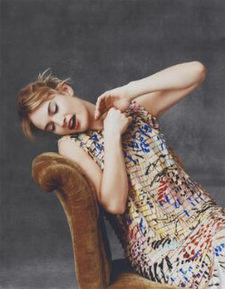 Lily James, by Paul Wetherell - NPG x200718