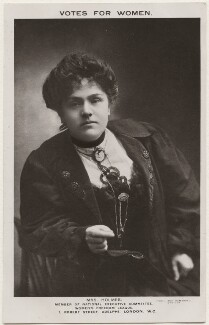 Marion Holmes (née Milner), by May Hammond, published by  Women's Freedom League - NPG x200712