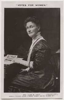 Lilian Hicks, by Lena Connell (later Beatrice Cundy), published by  Women's Freedom League - NPG x200713