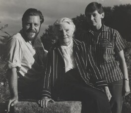 Gerald Durrell; Louisa Florence Durrell (née Dixie); Jacquie Durrell, by Wolfgang Suschitzky - NPG x200734