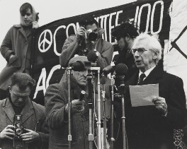 Bertrand Russell (Committee of 100, ban-the-bomb movement), by Wolfgang Suschitzky - NPG x200756
