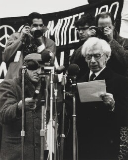Bertrand Russell (Committee of 100, ban-the-bomb movement), by Wolfgang Suschitzky - NPG x200757