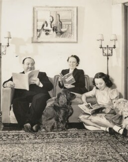 Alfred Hitchcock; Alma Reville; Patricia ('Pat') Hitchcock O'Connell, for Universal Pictorial Press and Agency Ltd - NPG x194380