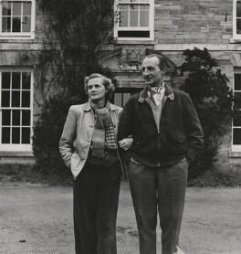 Daphne Du Maurier; Boy Browning, by Tom Blau, for  Camera Press - NPG x194386