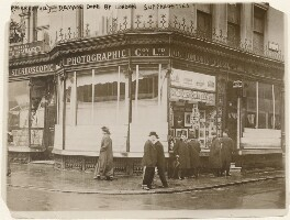Damage done by London Suffragettes to the premises of the London Stereoscopic & Photographic Co Ltd, by Unknown photographer - NPG x196282