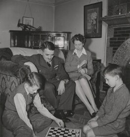 Sir Frank Whittle; Dorothy Lee; David Whittle; Ian Whittle, by Unknown photographer - NPG x194393