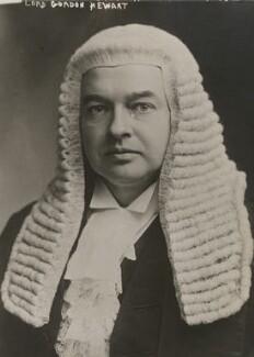 Gordon Hewart, 1st Viscount Hewart, by Bain News Service - NPG x194430