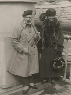 Sir Harry Lauder; Annie (née Vallance), Lady Lauder, by Unknown photographer - NPG x194434
