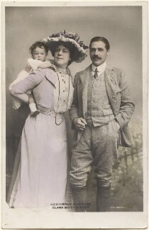 Dame Clara Ellen Butt; Robert Henry Kennerley Rumford; Joy Clara Cross (née Rumford), by Eleanor Holmes, published by  Rotary Photographic Co Ltd - NPG x200559
