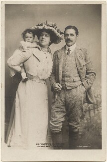 Dame Clara Ellen Butt; Robert Henry Kennerley Rumford; Joy Clara Cross (née Rumford), by Eleanor Holmes, published by  Rotary Photographic Co Ltd - NPG x200560