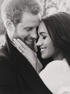 Prince Harry, Duke of Sussex; Meghan, Duchess of Sussex, by Alexi Lubomirski, 21 December 2017 - NPG  - Photo by Alexi Lubomirski