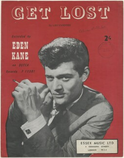 Sheet music cover for 'Get Lost' by Eden Kane, published by Decca Records, after  Unknown photographer - NPG D48443