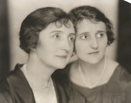Dame (Florence) Lilian Braithwaite; Joyce Carey, by Nickolas Muray - NPG x194488