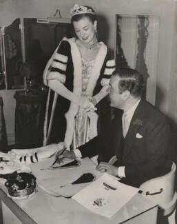 Norman Hartnell; Thelma Cranston, by Joe Waldorf - NPG x198233