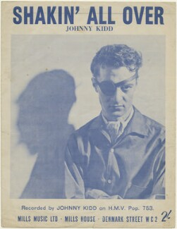 Sheet music cover for 'Shakin' All Over' by Johnny Kidd, published by Mills Music Ltd, after  Studio Hawk - NPG D48445