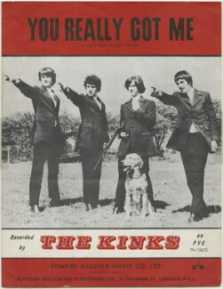 Sheet music cover for 'You Really Got Me' by The Kinks (Ray Davies; Pete Quaife; Dave Davies; Mick Avory), published by Edward Kassner Music Company Limited, after  Unknown photographer - NPG D48447