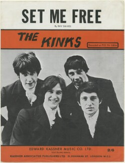 Sheet music cover for 'Set Me Free' by The Kinks (Ray Davies; Dave Davies; Mick Avory; Pete Quaife), published by Edward Kassner Music Company Limited, after  Unknown photographer - NPG D48449