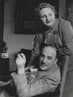 Michael Balcon; (April) Aileen Freda Balcon (née Leatherman), Lady Balcon, by Tom Blau - NPG x198255