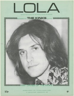 Sheet music cover for 'Lola' by The Kinks (Ray Davies), published by Davray Music Limited, published by  Carlin Music Corporation, after  Unknown photographer - NPG D48457