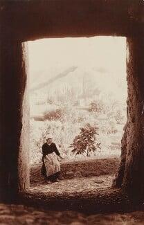 Scene near Yegen, Granada with unknown female figure, by (Charles) John Hope-Johnstone - NPG P134(17)