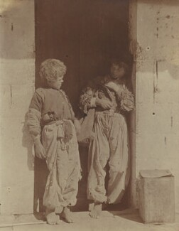 Two unknown boys near Permeti, Albania, by (Charles) John Hope-Johnstone - NPG P134(23)