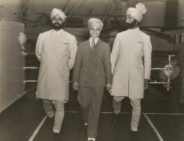 Sabu and his bodyguards on board the Aquitania, by Unknown photographer - NPG x198319