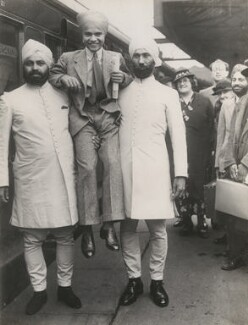 Sabu and his bodyguards leaving for New York, by Unknown photographer - NPG x198320
