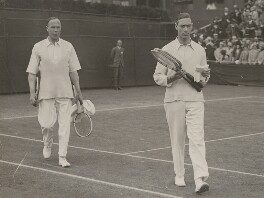 King George VI and Sir Louis Leisler Greig playing at Wimbledon, by Unknown photographer - NPG x198328