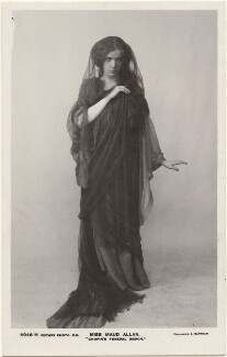 Maud Allan dancing to 'Chopin's Funeral March', by Foulsham & Banfield, published by  Rotary Photographic Co Ltd - NPG x198339