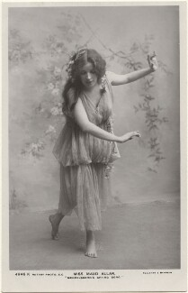 Maud Allan dancing to 'Mendelssohn's Spring Song', by Foulsham & Banfield, published by  Rotary Photographic Co Ltd - NPG x198340