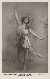 Maud Allan dancing to 'Mendelssohn's Spring Song', by Foulsham & Banfield, published by  Rotary Photographic Co Ltd - NPG x198341