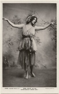 Maud Allan dancing to 'Mendelssohn's Spring Song', by Foulsham & Banfield, published by  Rotary Photographic Co Ltd - NPG x198342