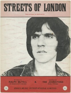 Sheet music cover for 'Streets of London' by Ralph McTell and The Johnstons, published by Essex Music Ltd, after  Unknown photographer - NPG D48477