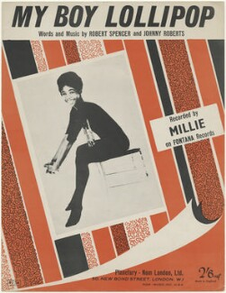 Sheet music cover for 'My Boy Lollipop' by Millie, published by Planetary Nom (London) Limited, after  Unknown photographer - NPG D48485