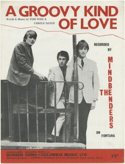 Sheet music cover for 'A Groovy Kind of Love' by The Mindbenders (Bob Lang; Eric Stewart; Ric Rothwell), published by Columbia Music Limited, after  Unknown photographer - NPG D48486