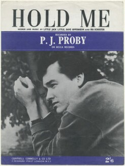 Sheet music cover for 'Hold Me' by P.J. Proby, published by Campbell, Connelly & Co, after  Unknown photographer - NPG D48505