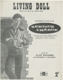 Sheet music cover for 'Living Doll' by Sir Cliff Richard, published by The Peter Maurice Music Co Ltd, after  Unknown photographer - NPG D48509