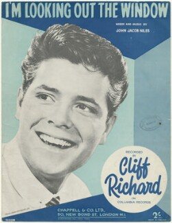 Sheet music cover for 'I'm Looking Out the Window' by Sir Cliff Richard, published by Chappell & Co, after  (Dezider) Dezo Hoffmann - NPG D48513