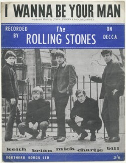 Sheet music cover for 'I Wanna Be Your Man' by The Rolling Stones (Keith Richards; Brian Jones; Mick Jagger; Charlie Watts; Bill Wyman), published by Northern Songs Ltd, after  Philip Townsend - NPG D48519