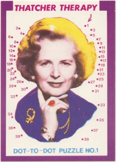 Margaret Thatcher ('Dot-to-Dot Puzzle no. 1: Thatcher Therapy'), by Paul Morton, published by  Leeds Postcards - NPG D48905