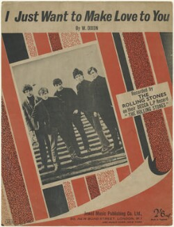 Sheet music cover for 'I Just Want to Make Love to You' by The Rolling Stones (Mick Jagger; Brian Jones; Bill Wyman; Keith Richards; Charlie Watts), published by Jewel Music Publishing Co. Ltd., after  Unknown photographer - NPG D48520