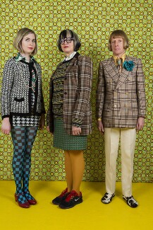The Perry Family (Florence Perry; Philippa Perry; Grayson Perry), by Martin Parr - NPG P2086