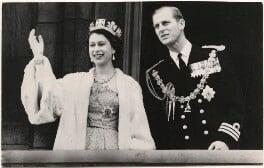 Queen Elizabeth II; Prince Philip, Duke of Edinburgh, published by Raphael Tuck & Sons - NPG x183997
