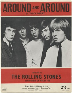 Sheet music cover for 'Around and Around' by The Rolling Stones (Bill Wyman; Keith Richards; Mick Jagger; Charlie Watts; Brian Jones), published by Jewel Music Publishing Co. Ltd., after  Unknown photographer - NPG D48522