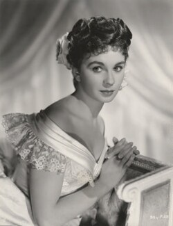 Jean Simmons during the filming of 'So Long at the Fair', by Charles Trigg - NPG x200854