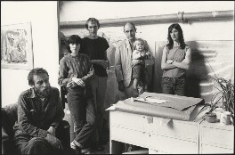 Geoffrey Rigden; Shirley O'Neil; Michael Blake; Humphrey Ocean; Ruby Ocean; Miranda Argyll, by Harry Diamond - NPG x210041